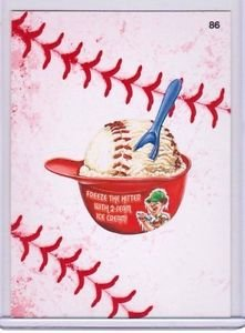 "2016 WACKY PACKAGES BASEBALL SERIES 1 LACE BORDER ""2-SEAM ICE CREAM"" #86"