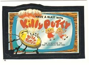 """TOPPS WACKY PACKAGES 1986 SERIES ALBUM STICKER """"KILLY PUTTY"""" #68 ONLY 99 CENTS"""