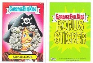 "2015 GARBAGE PAIL KIDS SERIES 1  ""BARNACLE BOB"" B7a BONUS STICKER"