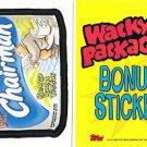 2005 WACKY PACKAGES ALL NEW SERIES 2 (ANS2) **CHAIRMAN** BONUS STICKER  B5