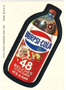 "1974 WACKY PACKAGES ORIGINAL 8TH SERIES ""BURPSI-COLA"" STICKER"