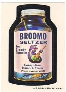 "1974 WACKY PACKAGES WONDER BREAD 2nd SERIES ""BROOMO SELTZER"" STICKER"