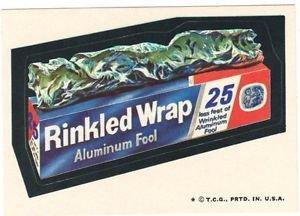 "1974 WACKY PACKAGES WONDER BREAD 2nd SERIES ""RINKLED WRAP"" STICKER"