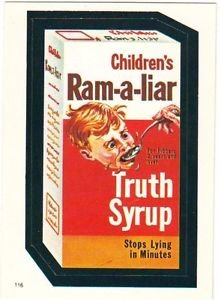 "TOPPS WACKY PACKAGES 1982 SERIES ALBUM STICKER ""RAM-A-LIAR"" #116"