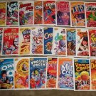 2011 CEREAL KILLERS 1ST SERIES 25 STICKERS LOT like WACKY PACKAGES by JOE SIMKO
