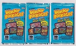 """2007 WACKY PACKAGES ALL NEW SERIES 6 {ANS6) LOT OF """"THREE NEW PACKS"""" NICE PRICE"""