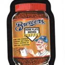 "2016 WACKY PACKAGES BASEBALL SERIES 1 ""BREWERS BREWED COFFEE"" #11 STICKER CARD"