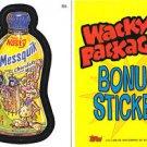 2006 WACKY PACKAGES ALL NEW SERIES 3 (ANS3) **MESSQUIK** BONUS STICKER  B6