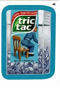 """2013 WACKY PACKAGES ALL NEW SERIES 10 {ANS10} BLUE BORDER """"TRIC TAC"""" #46"""