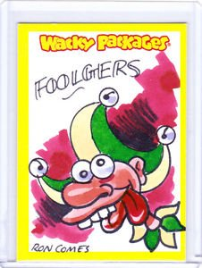 2013 WACKY PACKAGES ANS11 COLOR SKETCH **FOOLGERS** by RON COMES  NICE SKETCH!