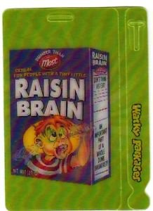 "2012 WACKY PACKAGES ALL NEW SERIES 9 {ANS9} MOTION TAG ""RAISIN BRAIN"" #5"