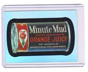 "2014 WACKY PACKAGES CHROME SERIES 1 ""MINUTE MUD"" #50 REFRACTOR CARD NM"
