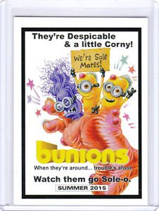 2015 TOPPS WACKY PACKAGES SERIES 1 **BUNIONS** EXCLUSIVE FOIL CARD! HTF!