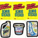 2005 WACKY PACKAGES ALL NEW SERIES 2 (ANS2) **THREE BONUS STICKERS** B5,B6,B7