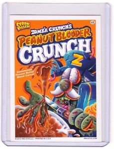 """2012 CEREAL KILLERS 1ST SERIES """"PEANUT BLOODER CRUNCH"""" #48 STICKER-ONLY 99 CENTS"""