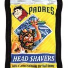 "2016 WACKY PACKAGES BASEBALL SERIES 1 ""PADRES HEAD SHAVERS"" #36 STICKER CARD"