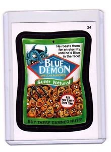 "2015 WACKY PACKAGES SERIES 1 ""BLUE DEMON"" #24 STICKER! NM"