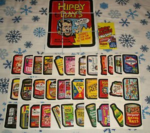 2011 WACKY PACKAGES OLD SCHOOL 3rd SERIES WHITE BACKS COMPLETE SET + PUZZLE