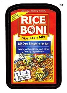 2014 WACKY PACKAGES SERIES1 **RICE-A-BONI** #41 STICKER!