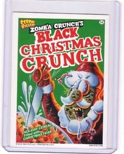"""2012 CEREAL KILLERS 1ST SERIES """"BLACK CHRISTMAS CRUNCH""""#54 STICKER-ONLY 99 CENTS"""