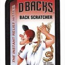 "2016 WACKY PACKAGES BASEBALL SERIES 1 ""D-BACKS BACK SCRATCHER"" #18 STICKER CARD"