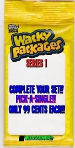 "2014 WACKY PACKAGES SERIES1 SINGLES ""PICK ONE"" -COMPLETE YOUR SET- ONLY 99 CENTS"