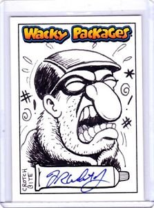 "2015 WACKY PACKAGES SERIES 1 ""CROTCH BITE"" SKETCH by FRED WHEATON  NICE SKETCH!"