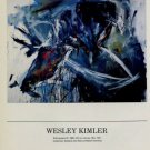 1986 Wesley Kimler Kilimanjaro III 1986 Art Exhibition Ad Advert