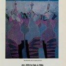 Vladimir Cora Vintage 1986 Art Exhibition Ad Tres Senoritas