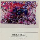1986 Sheila Elias Two French Girls 1986 Art Exhibition Ad Advertisement Alex Rosenberg Gallery