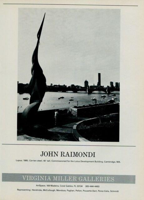 Sculptor John Raimondi Vintage 1986 Art Ad Lupus