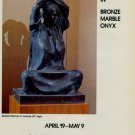 Sculptor Felipe Castaneda Vintage 1986 Art Exhibition Ad Seated Woman