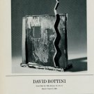 Sculptor David Bottini Vintage 1986 Art Exhibition Ad