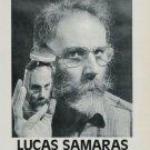 Lucas Samaras Vintage 1986 Art Exhibition Ad Advert Pace/MacGill Gallery, NY