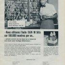 Elgin Watch Company M56b Vintage 1962 Swiss Ad Suisse Advert Horlogerie