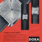Doxa Watch Company Vintage 1962 Swiss Ad Suisse Advert Horlogerie Horology