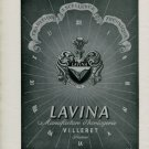 1947 Lavina Watch Company Villeret Switzerland Vintage 1947 Swiss Ad Suisse Advert
