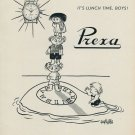 1953 Prexa Watch Company It's Lunch Time Vintage 1953 Swiss Ad Suisse Advert Le Locle Switzerland