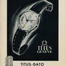 1953 Titus Watch Company Geneva Switzerland 1953 Swiss Ad Suisse Advert Suisse Advert Geneve
