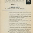 Eterna Watch Company Eterna-Matic 1953 Swiss Ad Switzerland Suisse Advert Horlogerie