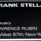 Frank Stella Vintage 1970 Art Exhibition Ad Lawrence Rubin, NY