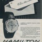 Hamilton Watch Company Bienne Switzerland 1962 Swiss Ad Suisse Advert Horlogerie