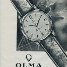 1962 Olma Watch Company Switzerland Numa Jeannin S.A. 1962 Swiss Ad Suisse Advert