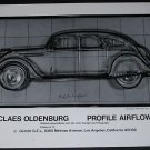 Claes Oldenburg Profile Airflow Vintage 1970 Art Ad