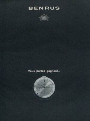 1964 Benrus Watch Company Switzerland Vintage 1964 Swiss Ad Suisse Advert Horlogerie