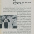 1956 Omega Watch Company Olympic Games Olympics Vintage 1956 Swiss Magazine Article