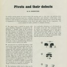 1949 Pivots and Their Defects by H. Jendritzki 1949 Swiss Magazine Article Horology
