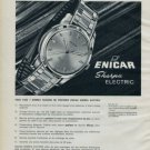 Enicar Watch Company Switzerland 1962 Swiss Ad Suisse Advert Horlogerie Horology