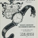 1951 Zenith Watch Company Record for Precision Vintage 1951 Swiss Ad Suisse Advert