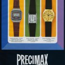 1977 Precimax Watch Company Neuchatel Switzerland Vintage 1977 Swiss Ad Suisse Advert
